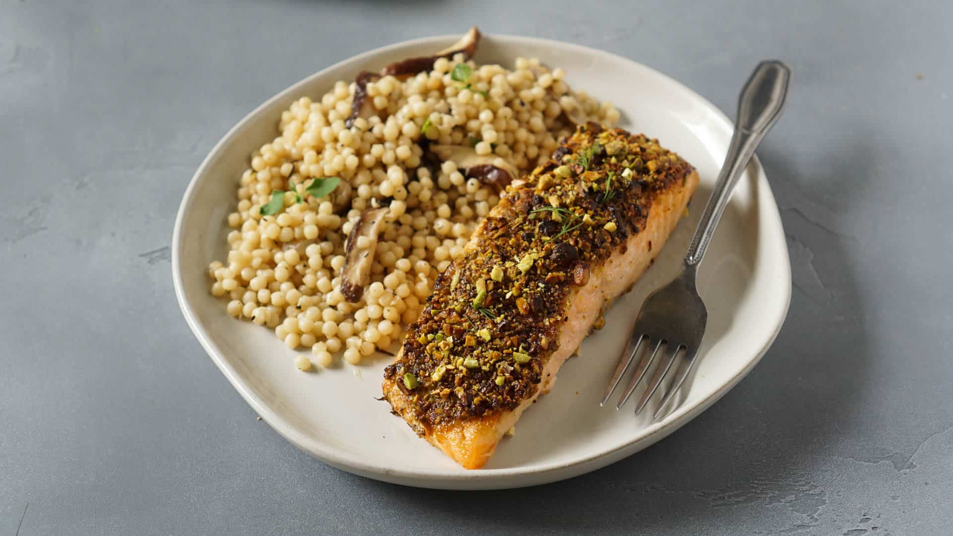 Pistachio Crusted Air Fryer Salmon