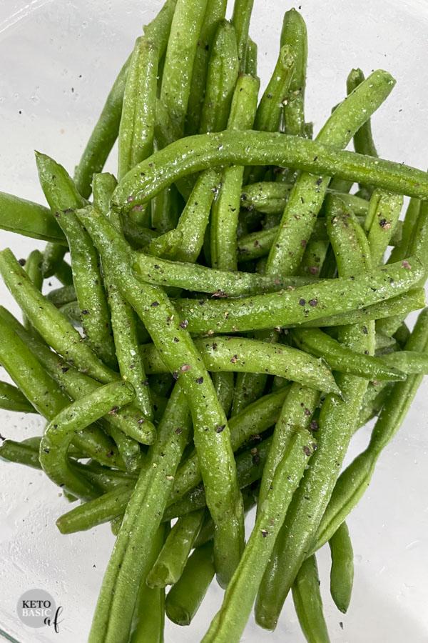 KETO Air Fryer Green Beans