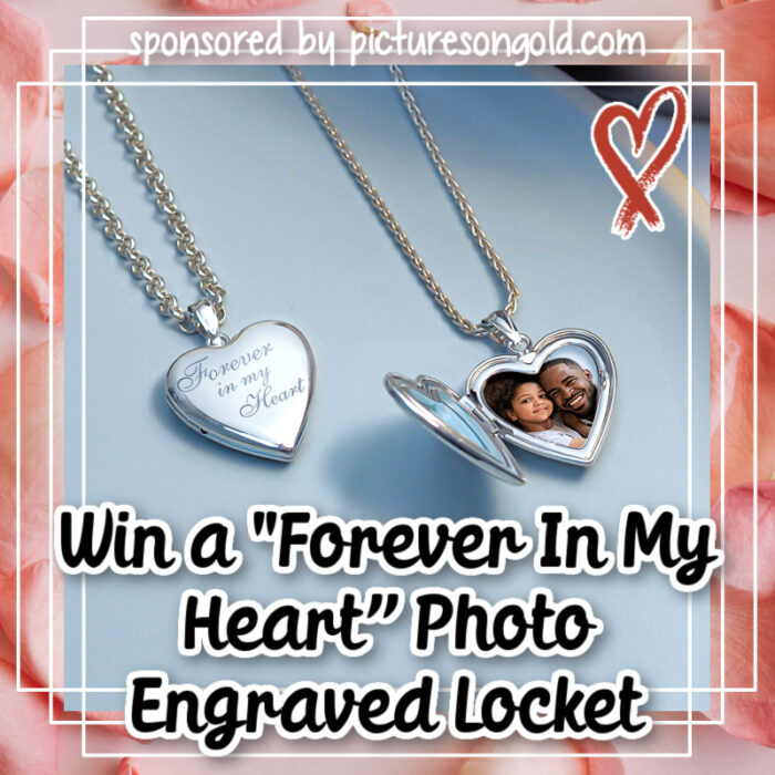 """win a Sterling Silver """"Forever In My Heart"""" Photo Engraved Locket"""