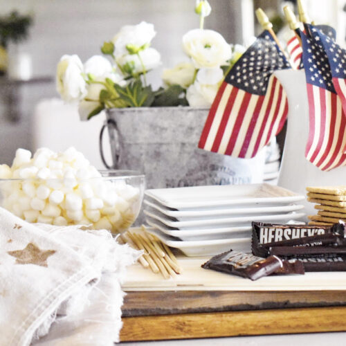 diy neutral american flag tray