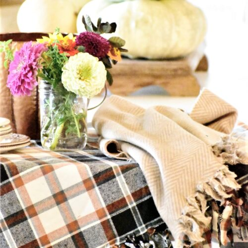 no sew fall flannel throw