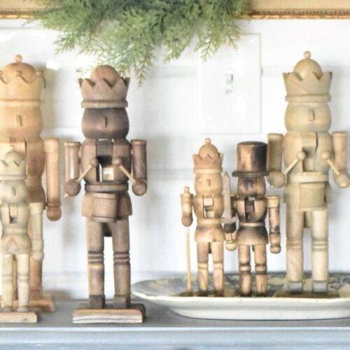 neutral Nutcracker christmas decor