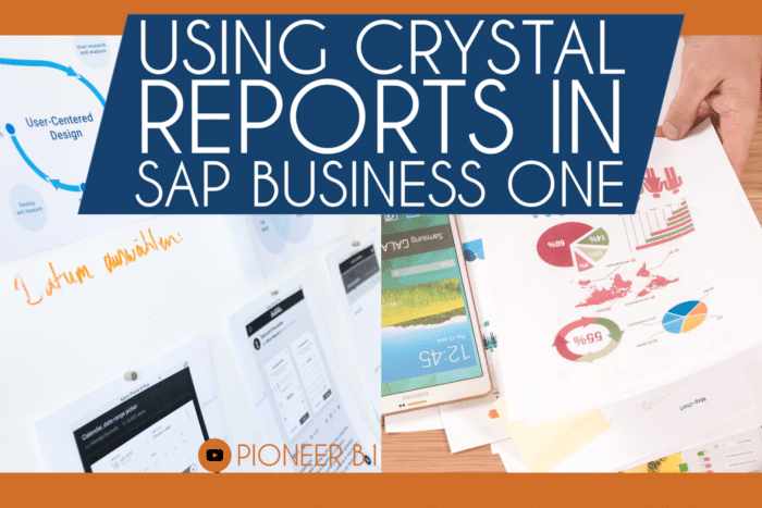 how to use crystal reports in SAP Business One