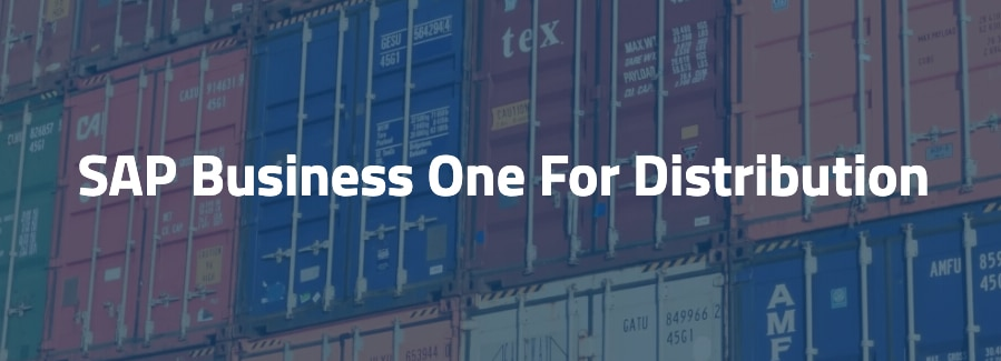 sap business one management software for distribution and production companies.