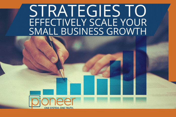 business scaling strategy - business man with bar graph