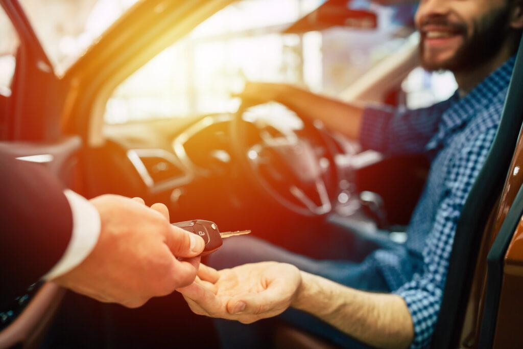handing a man some keys