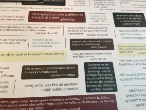 quote wall from pieology
