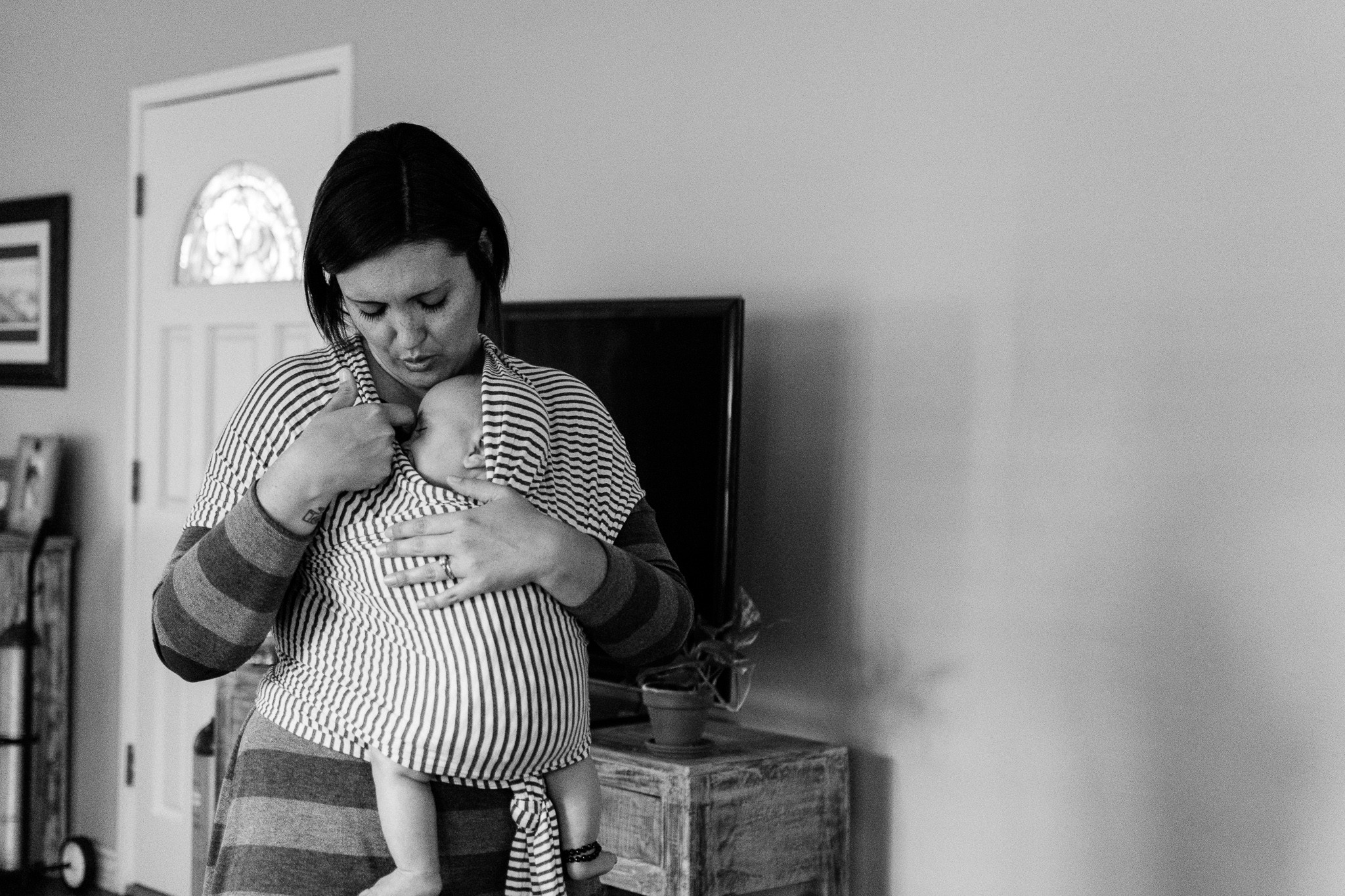 mom with infant son documentary family photography