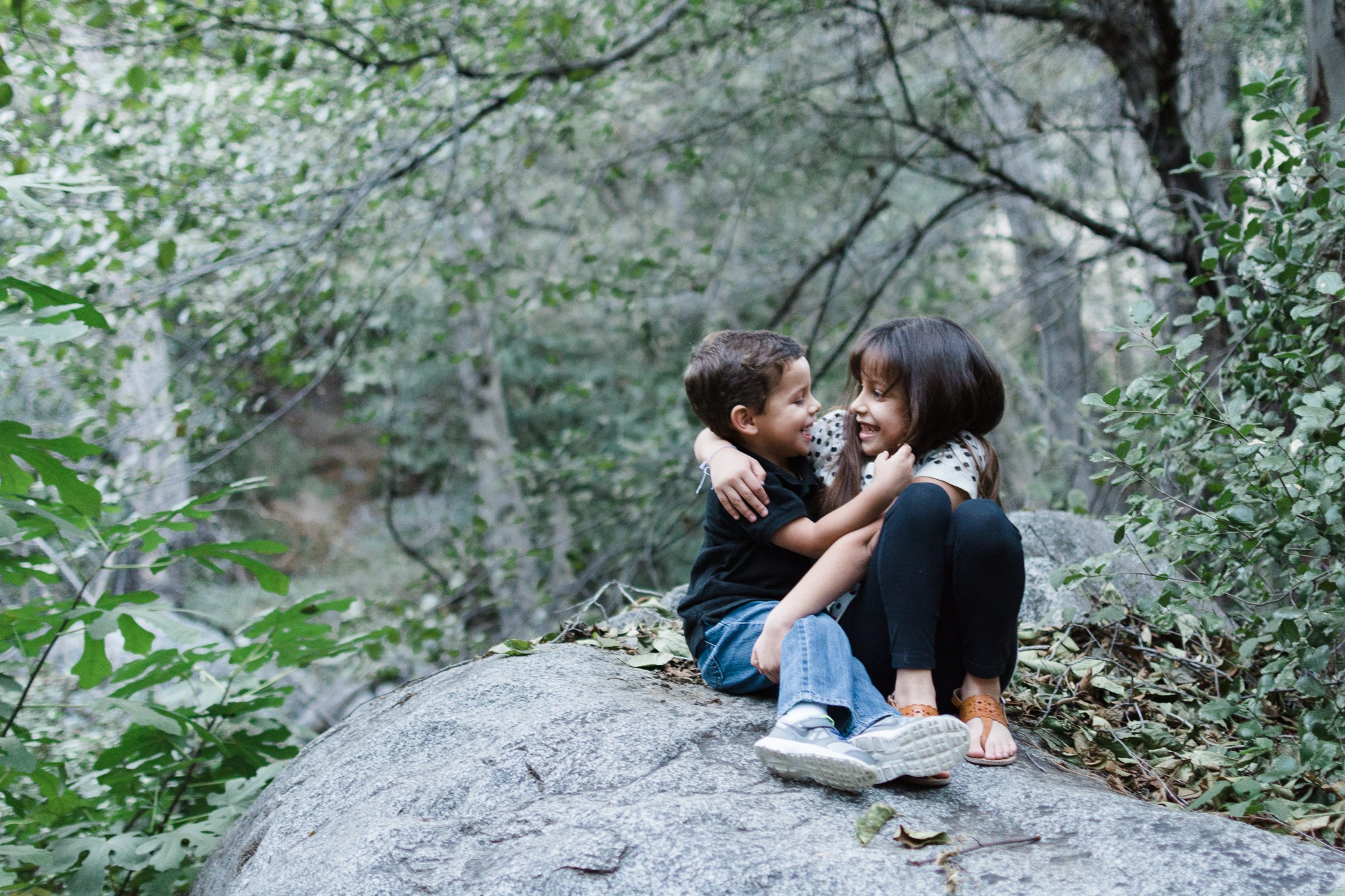 brother and sister documentary family photography