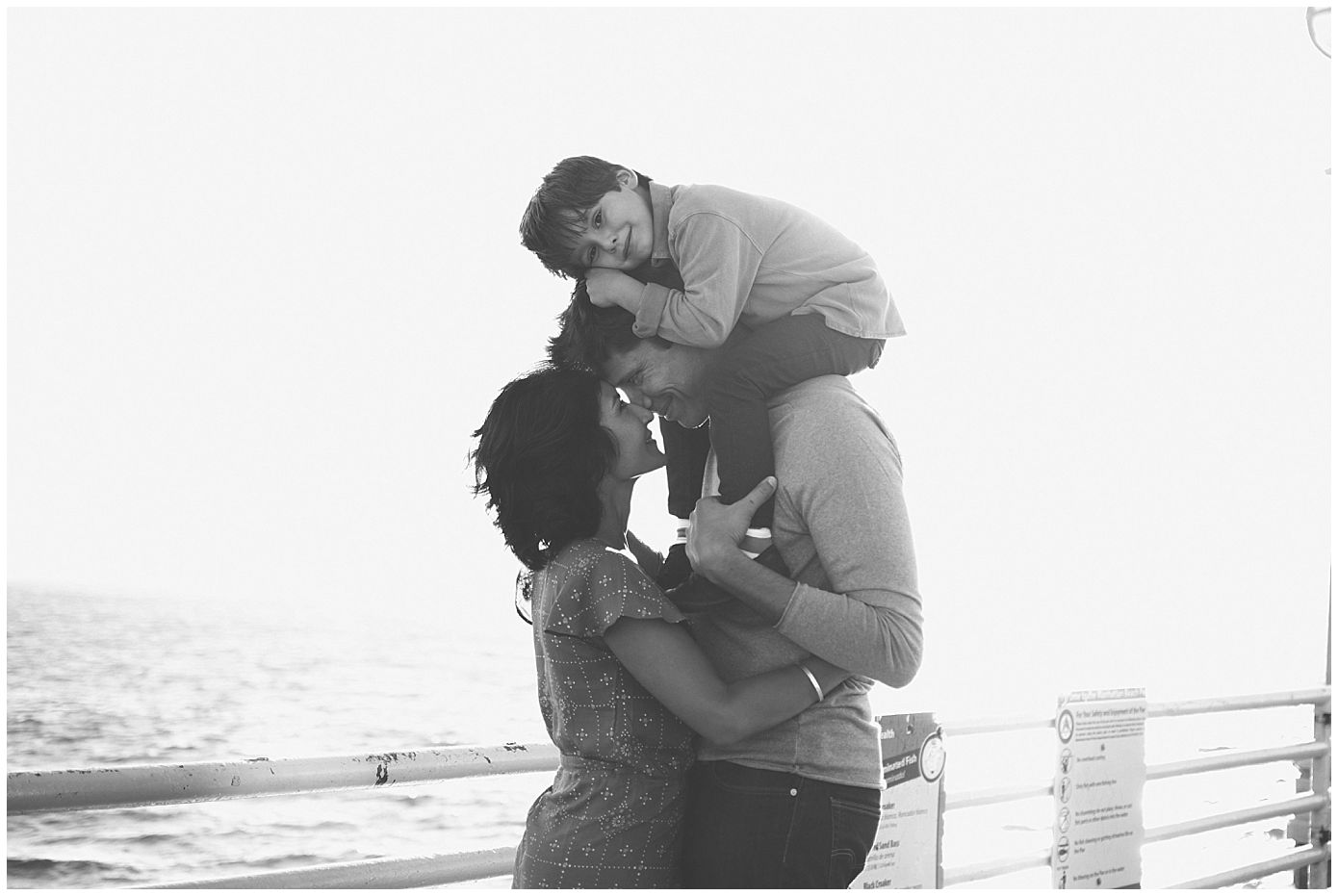 Family of Three Manhattan Beach Family Photography Captured Grace by Erin