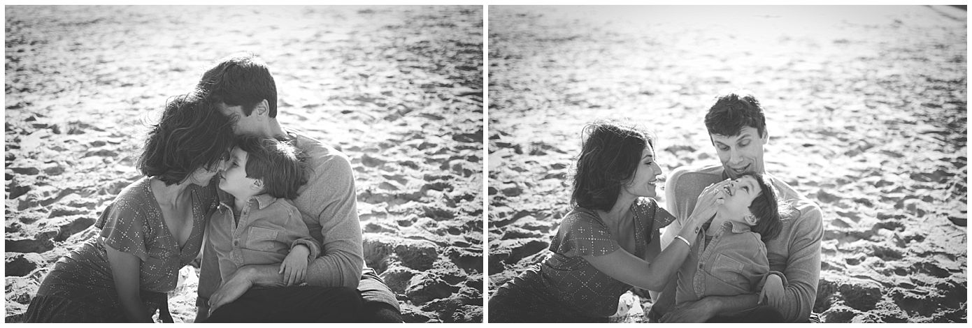 Family of Three on the Beach Manhattan Beach Family Photography Captured Grace by Erin