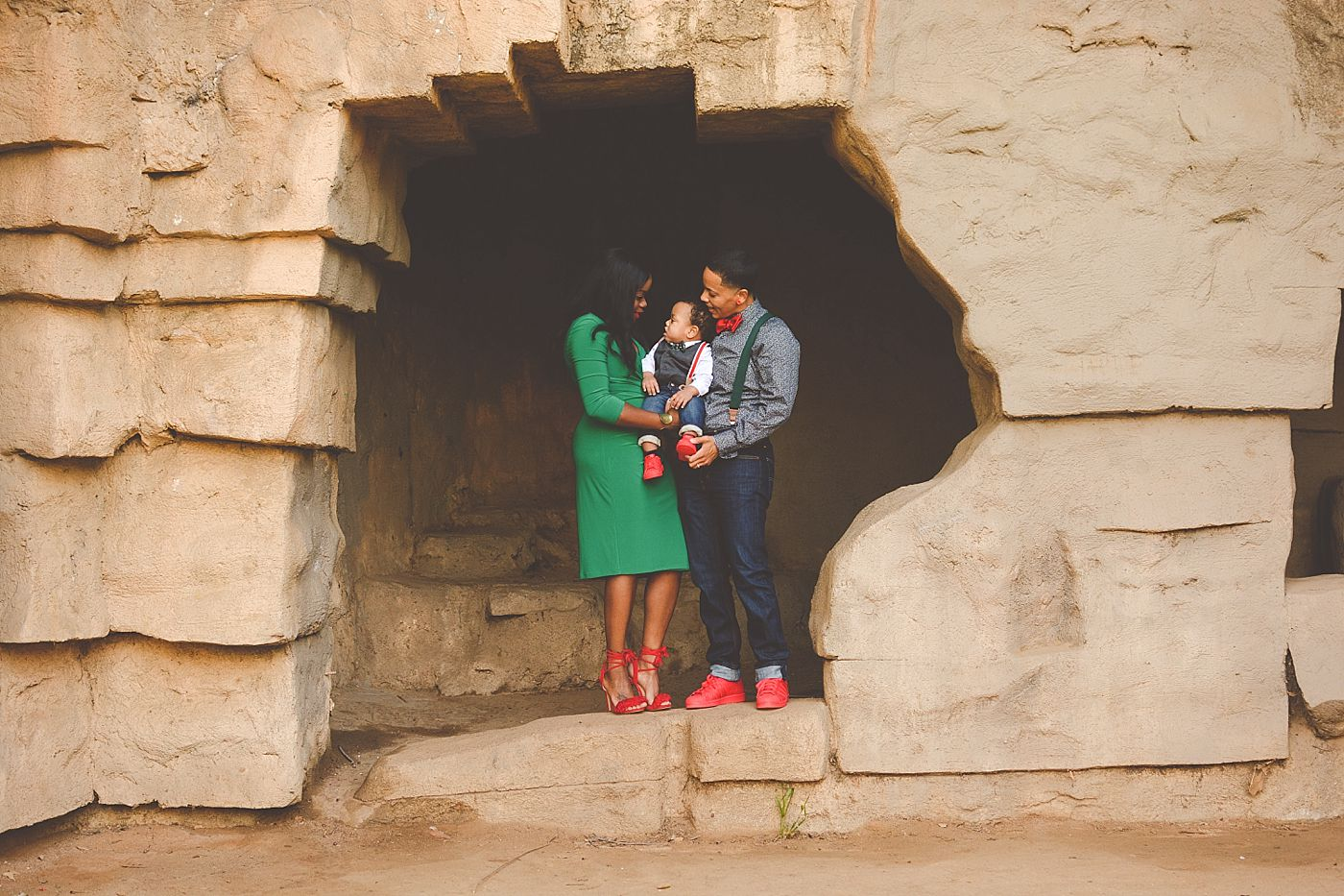 Griffith Park Old Zoo Family Holiday Pictures