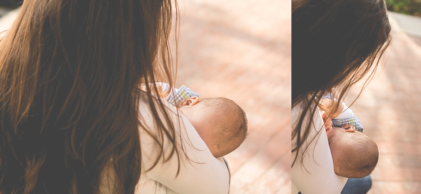 mom nursing baby in park redlands birth photography captured grace by erin