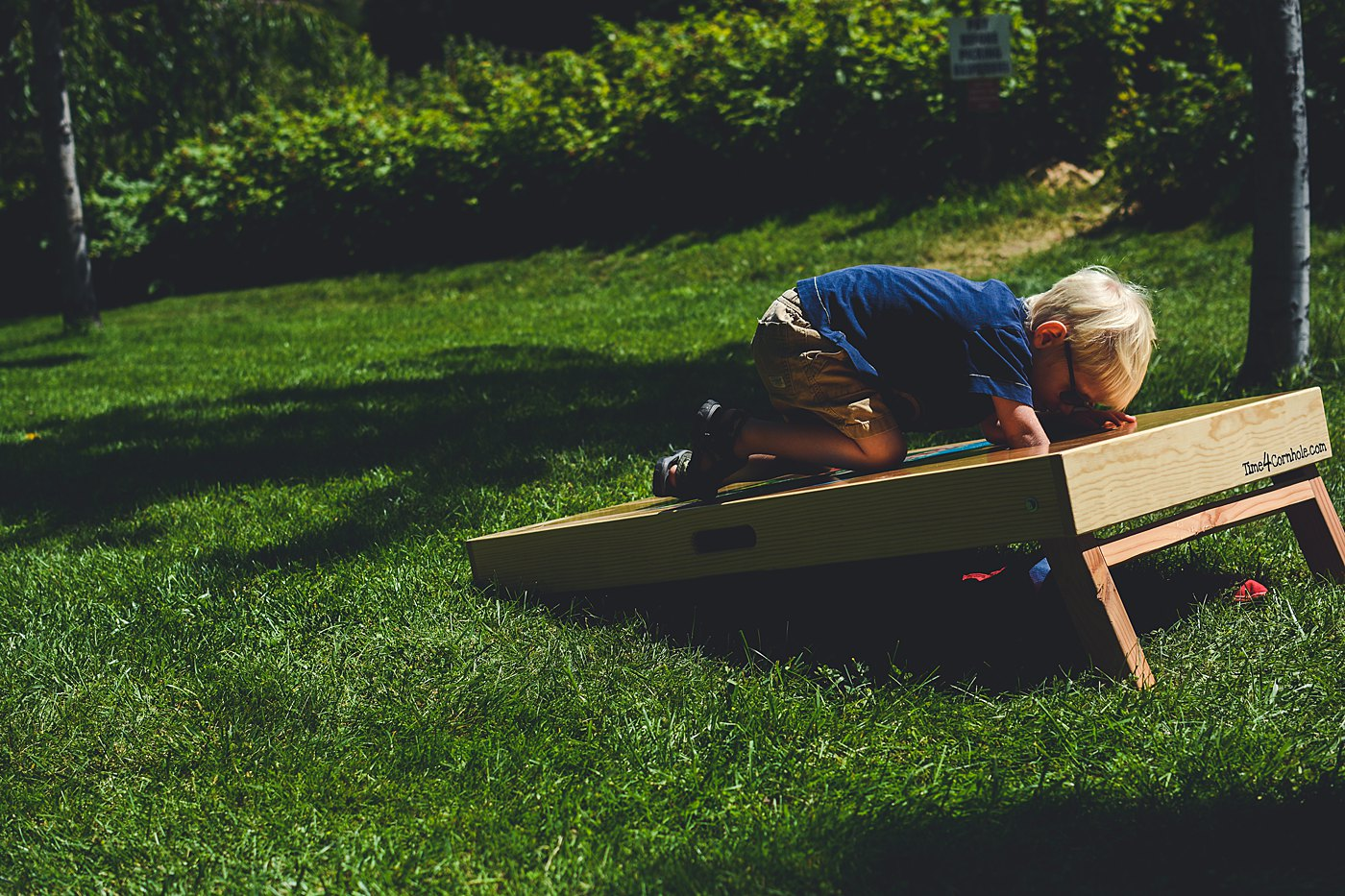 Oak Glen Snowline Orchard Toddler Boy playing on Box Captured Grace by Erin Family Photography