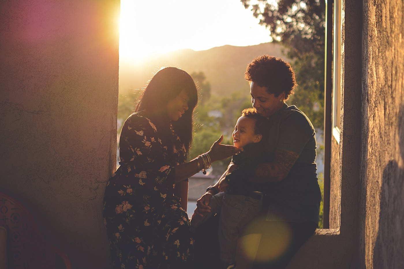 family outside in the sunset redlands family photographer