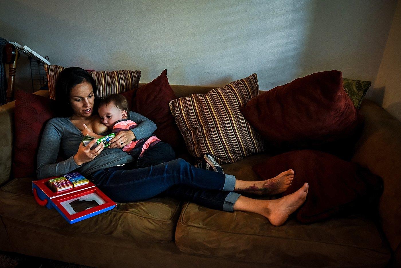 mom reading nursing toddler redlands family photography