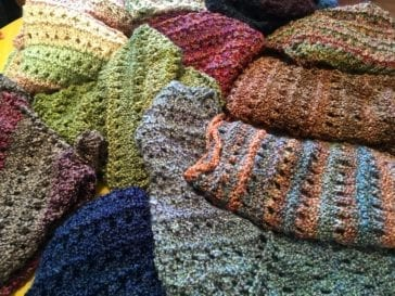 Colorful Hand-Knitted Shawls by Betsey Weinschel