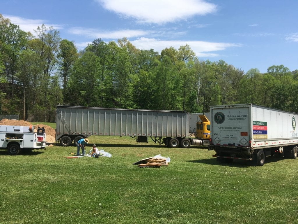 two tractor trailers at SMCC