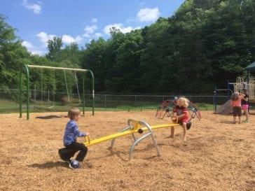 children on see saw