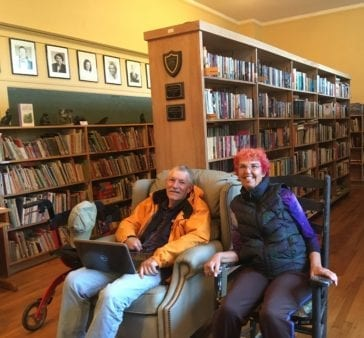 library volunteers in library