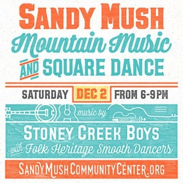 Mountain Music and Square Dance Poster created by Dianne Frisbee