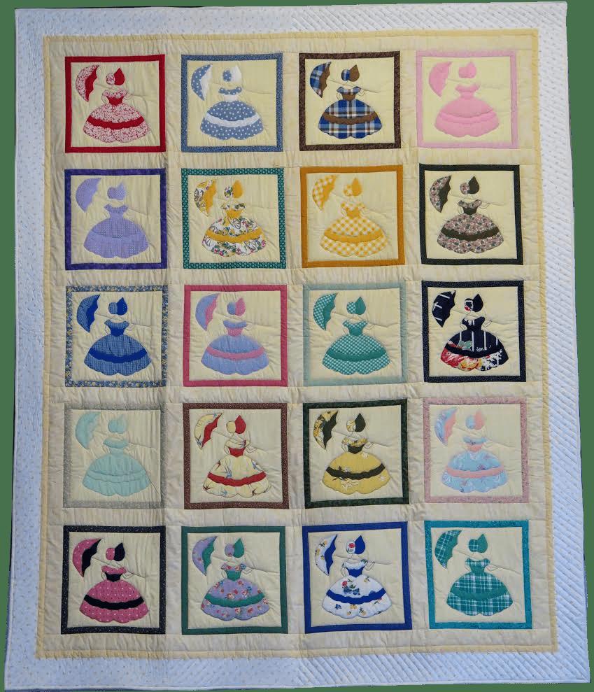 colonial ladies quilt blocks large quilt