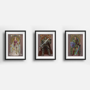 The Complete Triforce – Set of 3 Prints
