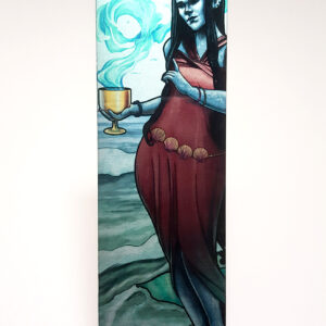 Tabletop Tarot – Queen of Cups Metal Bookmark