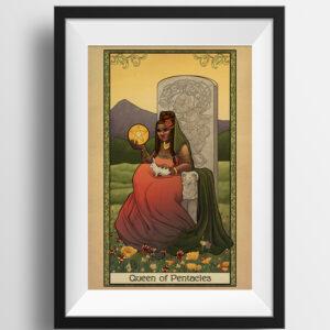 Tabletop Tarot – Queen of Pentacles – Print
