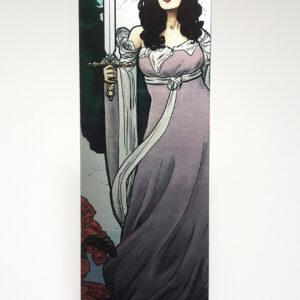 Tabletop Tarot – Queen of Swords Metal Bookmark