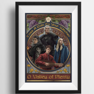 Toss A Coin – The Witcher Print