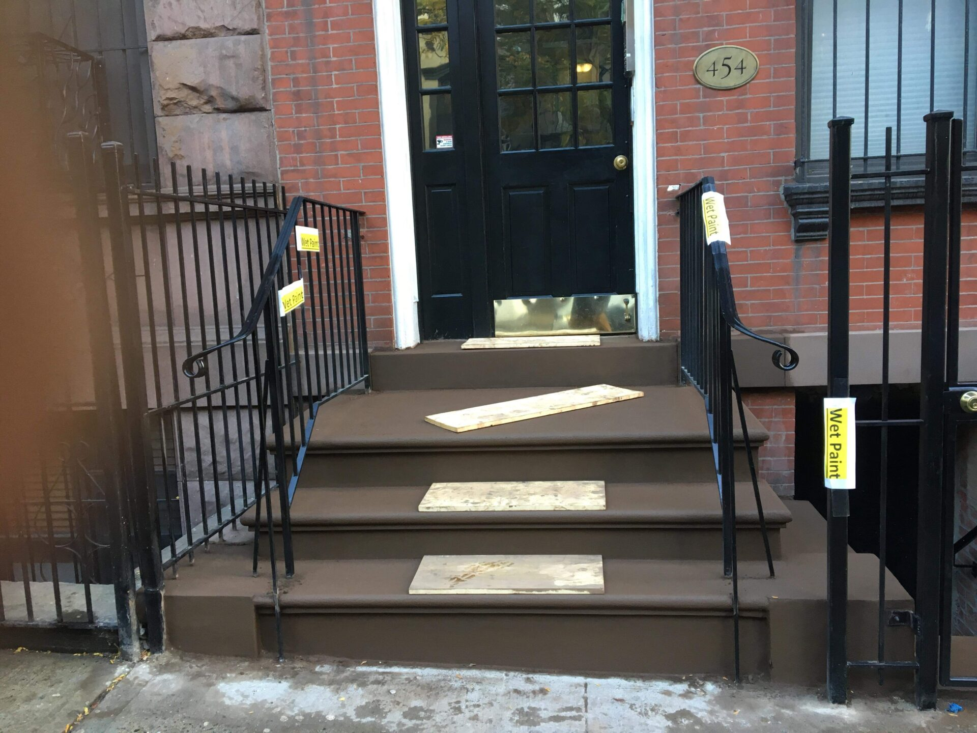 Theater District Brownstone Steps