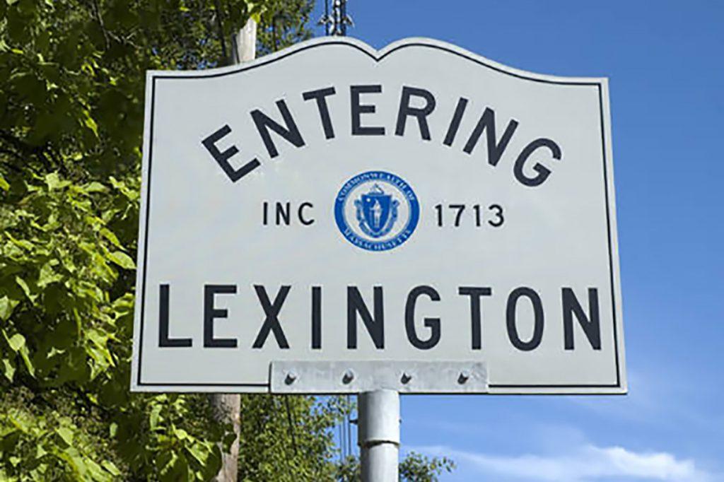 Entering Lexington sign