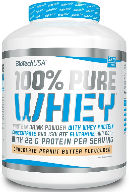 100% Pure Whey, Chocolate Peanut Butter - 2270g