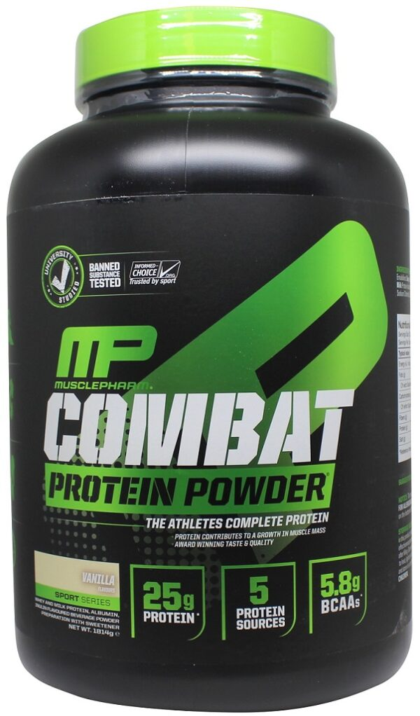 Combat Protein Powder, Strawberry - 1814g