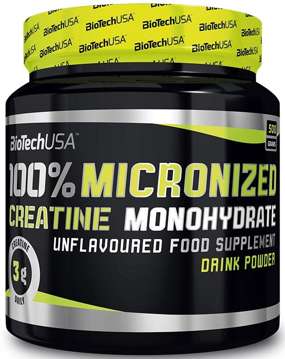 100% Creatine Monohydrate, Unflavoured - 500g