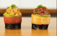How to Make a Spicy Tuna Salmon Sushi Roll
