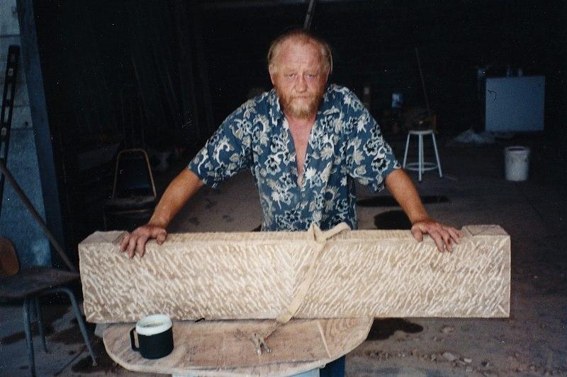 Rustic Chevron Lintel.