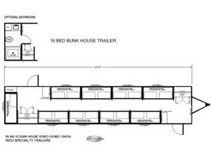 BK 842 18 MAN BUNK HOUSE TRAILER