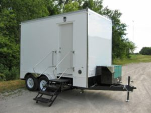 safety shower trailers exterior