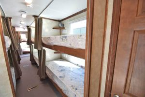 bunk bed trailers hall way