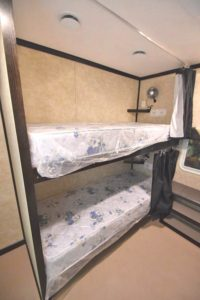 bunk bed trailer chocolate