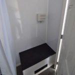 safety shower trailer bench seat