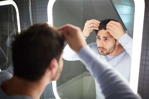 Man worried about PRP for hair loss