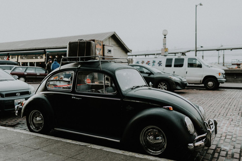 Image of vintage beetle on street