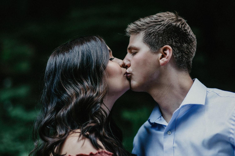 Image of couple kiss each