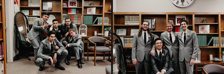 Image of groom and groomsmen