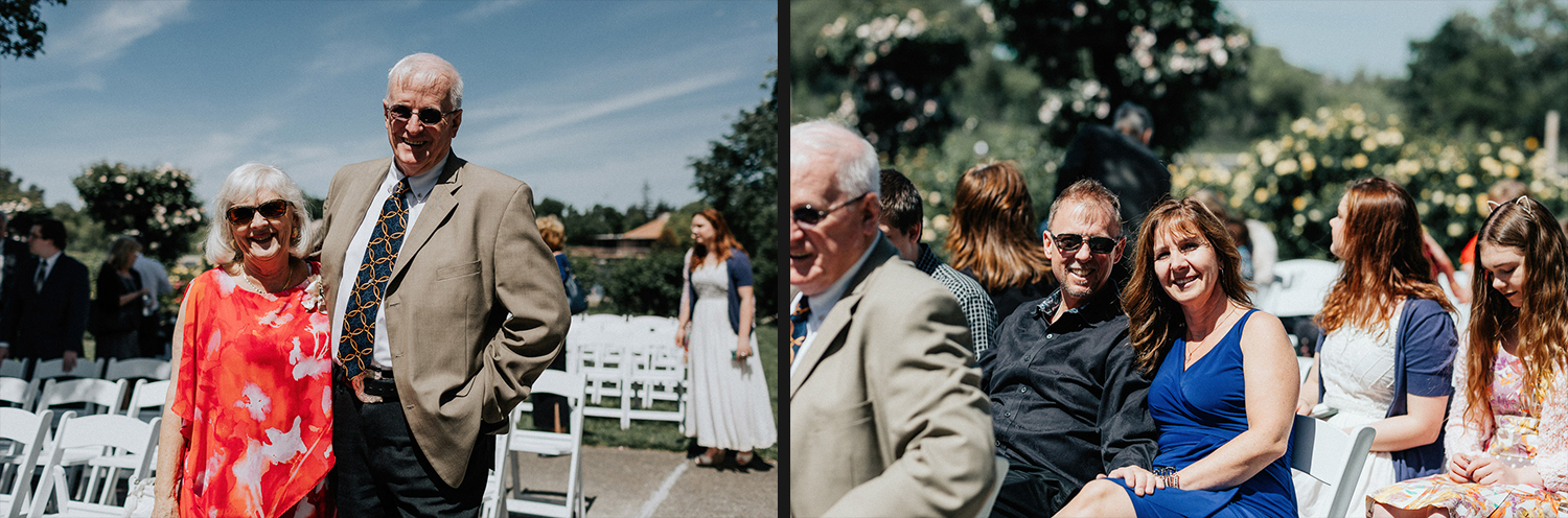 Image of wedding guests