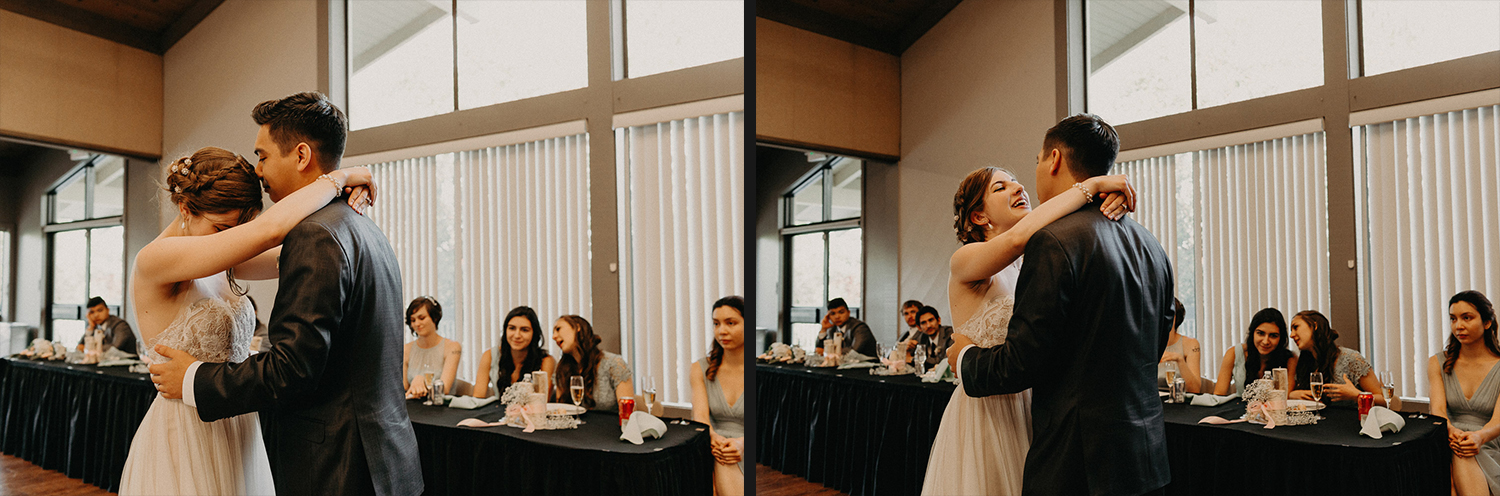 Image of groom and bride's first dance
