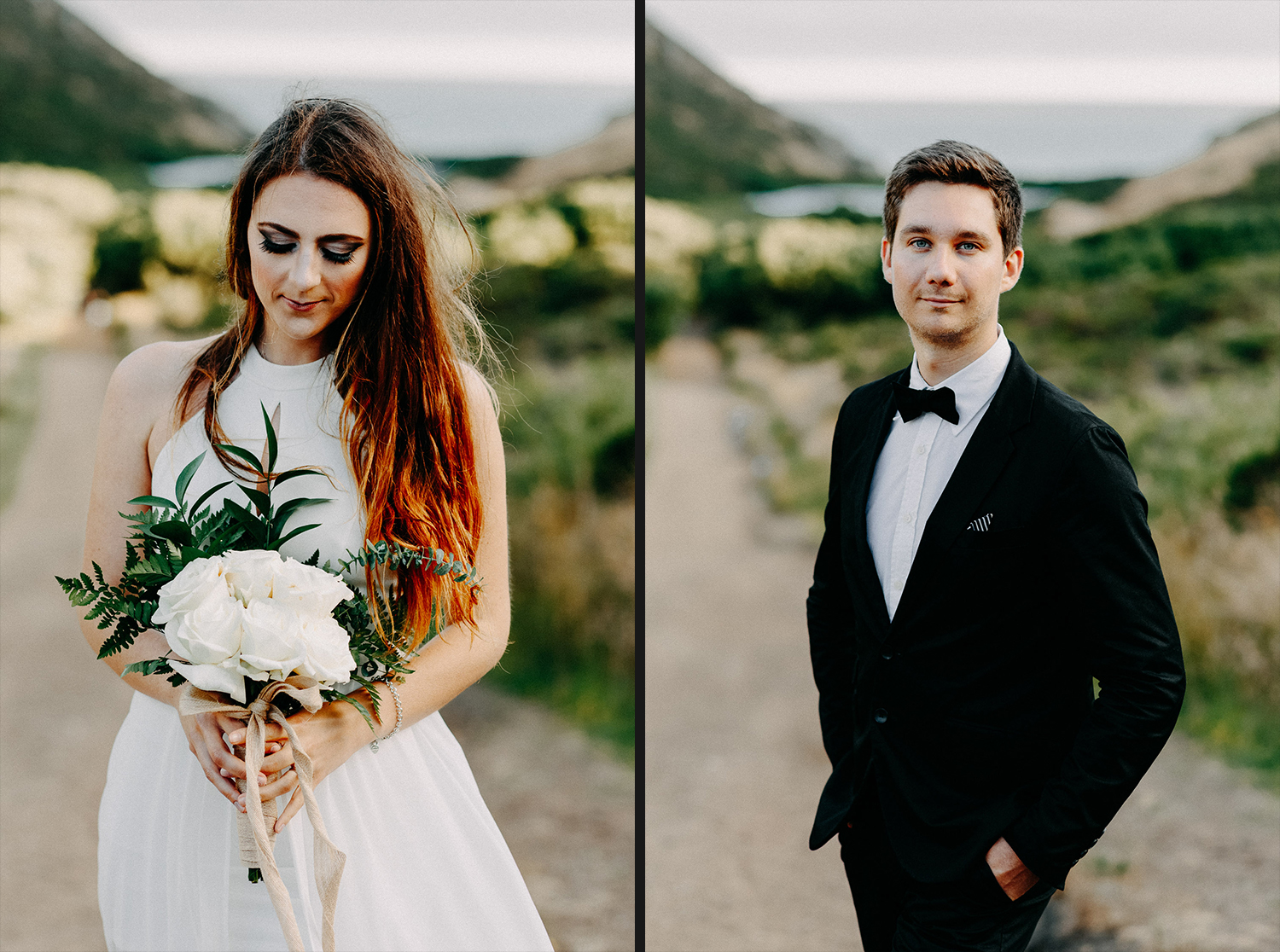 Image of bride and groom portraits